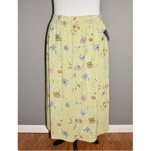 CHARTER CLUB Floral Pull-On Midi Skirt